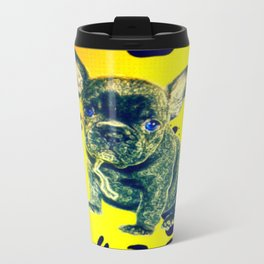Frenchie Paw Print Travel Mug