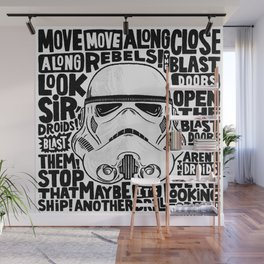"""Look Sir, Droids!"" by Matthew Taylor Wilson Wall Mural"