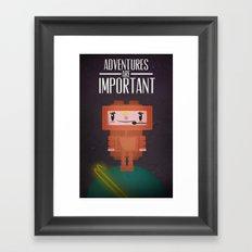 Space-cation Framed Art Print