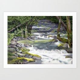 Panther Creek, Watercolor Art Print