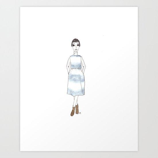 girl in a dress Art Print