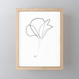 Flower C one line Framed Mini Art Print