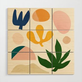 Abstraction_Floral_001 Wood Wall Art