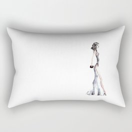 Lady - Watercolors and Ink Rectangular Pillow