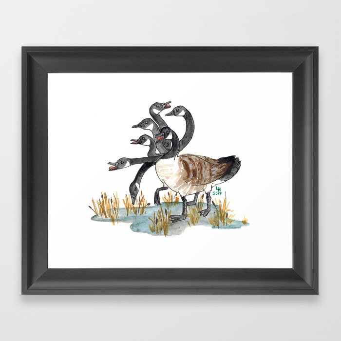 Hydra Goose Framed Art Print By Finaira Society6