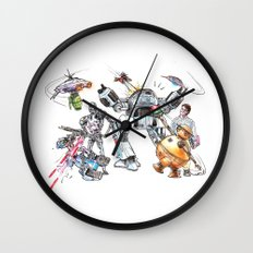 Bolts Vs. Bots Wall Clock