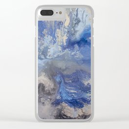 Blue Rivers Clear iPhone Case