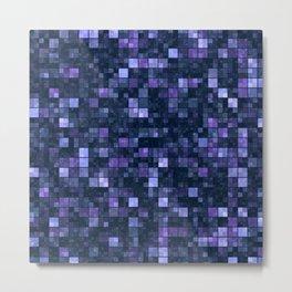 Blue Squares Metal Print