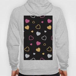 Stylized hearts pattern 3 Hoody