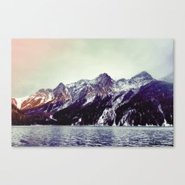 Lake and Mountains  - Nature Photography Canvas Print