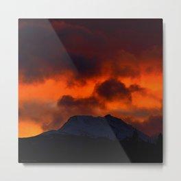 Fire Red Sunrise Metal Print