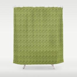 Green Zig-Zag Knit Shower Curtain
