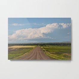 Summer Roads, Glasgow, Montana 5 Metal Print