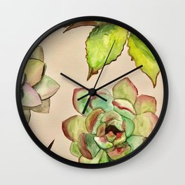 Cactus Plants Wall Clock