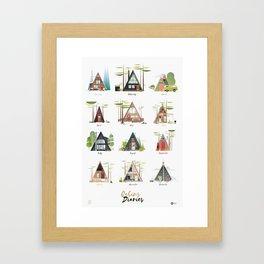Cabins Diaries Framed Art Print