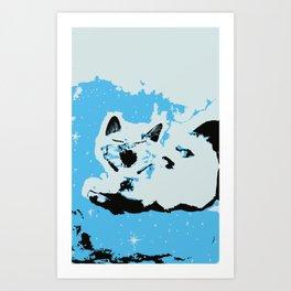 Mono Cat Art Print