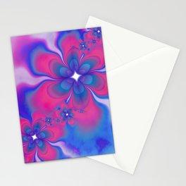 Fleurs Fête Fractal Stationery Cards
