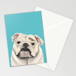 Sweet Little English Bulldog Stationery Cards