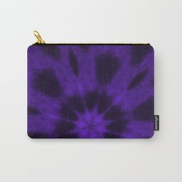Spotted Leopard Purple Kaleidoscope Carry-All Pouch