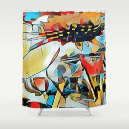 Daisy One Abstract Shower Curtain