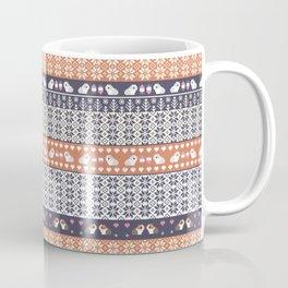 Fair Isle Christmas Guinea pig Pattern Coffee Mug