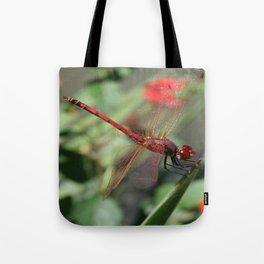 Red Skimmer or Firecracker Dragonfly Tote Bag