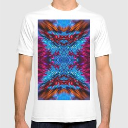 Blue and Magenta Light Refraction Patterns T-shirt
