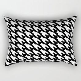 Black And White Dogtooth Design Rectangular Pillow