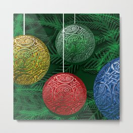 Celtic Ornaments on The Tree Metal Print