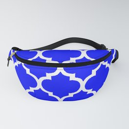 MOROCCAN COBALT BLUE AND WHITE PATTERN Fanny Pack