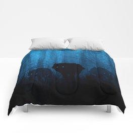 Wolf Pass: Cerulean Mist Comforters
