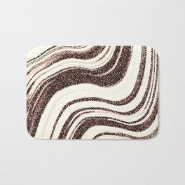 Textured Marble - Brown & Cream Bath Mat