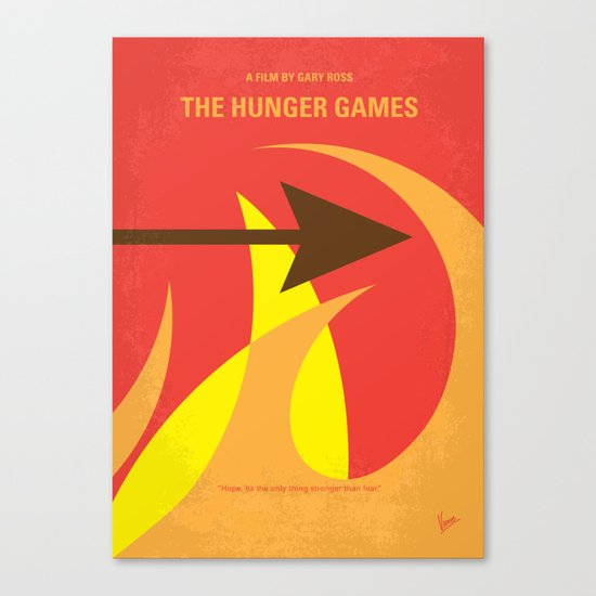 No175 My Games Hunger minimal movie poster 1 Canvas Print