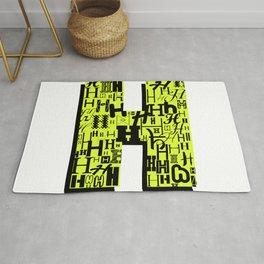 Letter H Rug