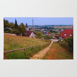 Stairway to the village center | landscape photography Rug