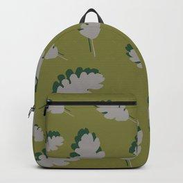 Oak leaves pattern guacamole gray Backpack