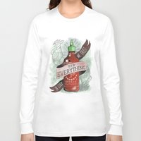 sriracha Long Sleeve T-shirts featuring An Ode To Sriracha by Drunk Girl Designs