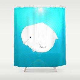 Fat Beluga Whale Shower Curtain