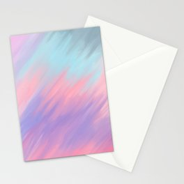 Modern abstract artsy pink lavender teal brushstrokes Stationery Cards