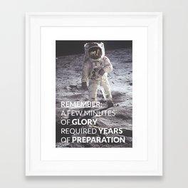 Motivational - Prepare For Glory (Moon Landing) Framed Art Print