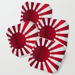 Japanese Rising Sun Flag Coaster