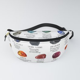 crystals gemstones identification Fanny Pack