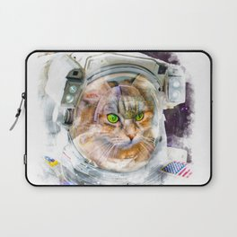 Space Cat Watercolor Laptop Sleeve