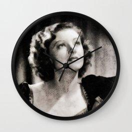 Myrna Loy, Vintage Actress Wall Clock