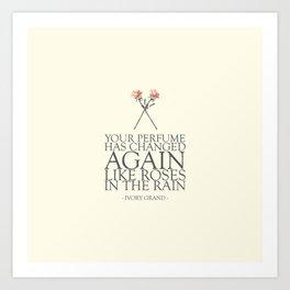 Roses In The Rain Art Print
