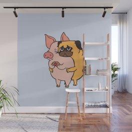Friend Not Food Pug Wall Mural