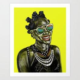 Bantu Knots Art Print