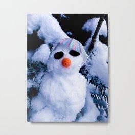 Mr Snow Metal Print