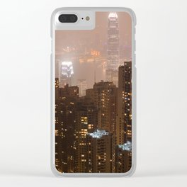 Hong Kong Night Clear iPhone Case