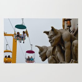 boardwalk gargoyles Rug